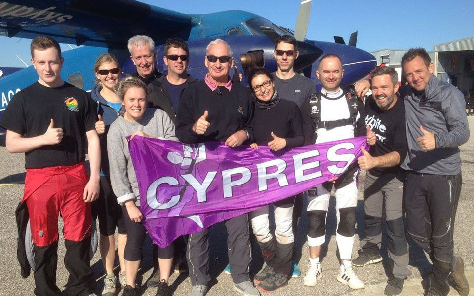 A previous group at Skydive spain learning to skydive on residential AFF courses with Active Skydiving.