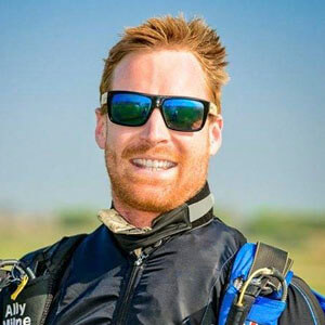 Photo of Ally Milne. Active Skydiving AFF instructor and wind tunnel coach.