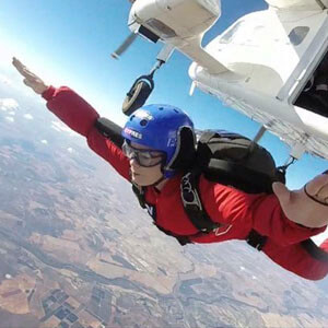 Photo of Amanda Evans. Skydiving with Active Skydiving at their residential AFF course at skydive spain.